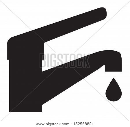 faucet icon. Water Tap Vector Icon. faucet Water.
