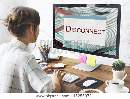 Error Halted System Disconnect Caution Concept