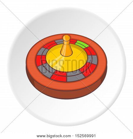 Roulette icon. Cartoon illustration of roulette vector icon for web
