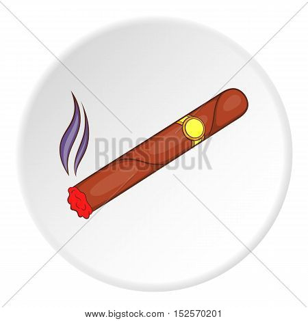 Cigar icon. Flat illustration of cigar vector icon for web