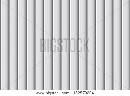 Abstract soft gray corrugated background texture pattern vector illustration.