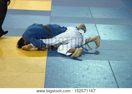 Two Judoka On The Tatami.