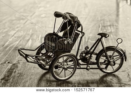 Miniature of trishaw or rickshaw vintage style
