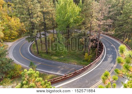 Pigtail bridge along the Needles Highway in the Black Hills of South Dakota