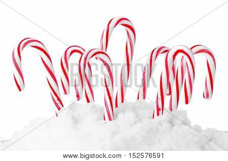 christmas candies isolated on white background. studio shot