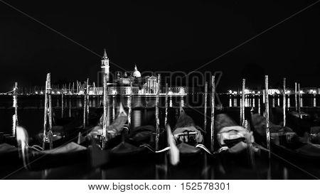 One Night in Venice - Gondole and San Giorgio Maggiore Chatedral