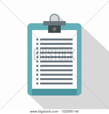 Clipboard with check list icon. Flat illustration of clipboard with check list vector icon for web isolated on white background