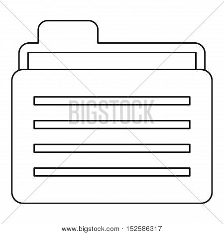 Folder icon. Outline illustration of folder vector icon for web