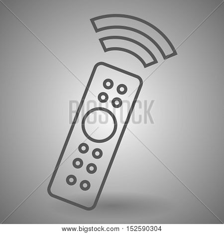 Remote control icon. TV switching channels sign. Linear outline icon.