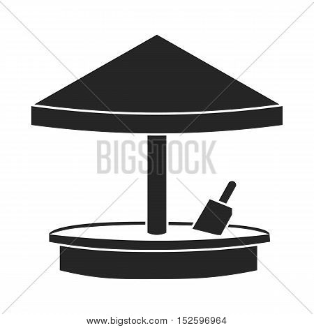 Sandbox icon in black style isolated on white background. Play garden symbol vector illustration.