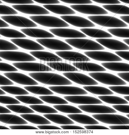 Cell tissue netting honeycomb abstract black and white vector fencing background