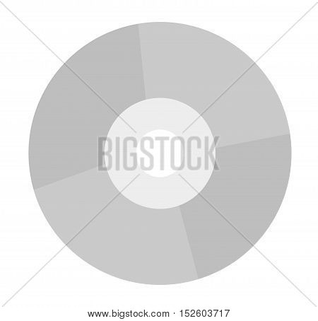 CD vector illustration. CD isolated on white background.