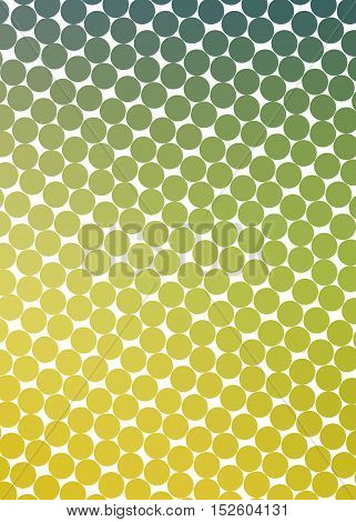 yellow-green background with circles at an angle with shadow and reflex