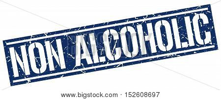 non alcoholic. stamp. square grunge vintage isolated. sign