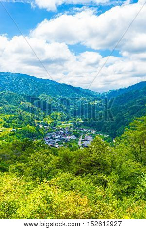 Tsumago Castle Grounds View Landscape V