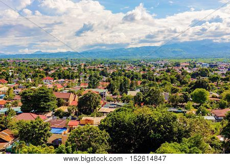 Residential area in Clark economic Angeles city in the Philippines