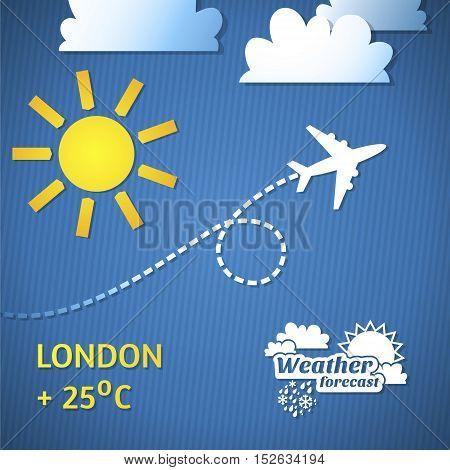 weather forecast illustration Weather forecast icons set.