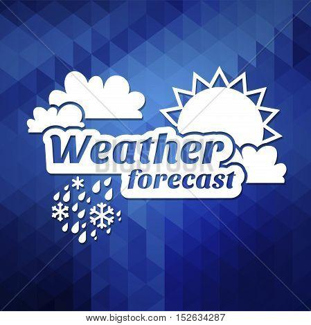 weather forecast illustration Weather forecast icons set. poster