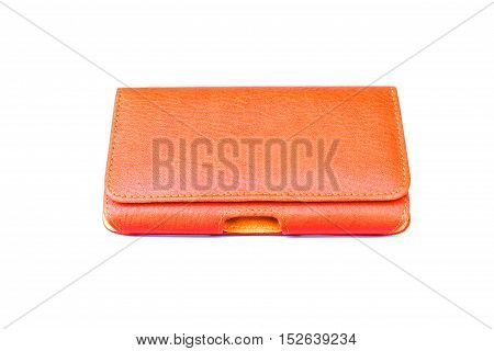 Holster Case mobile phone on isolated white background