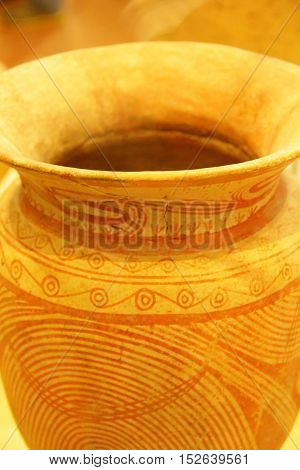 Vases made of pottery made exquisitely pristine.
