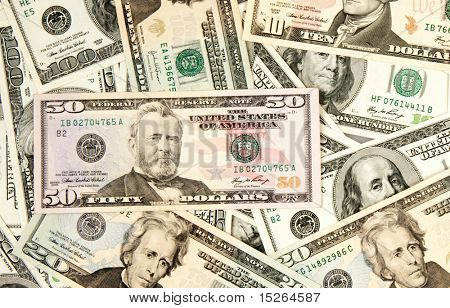 heap of dollars, money background