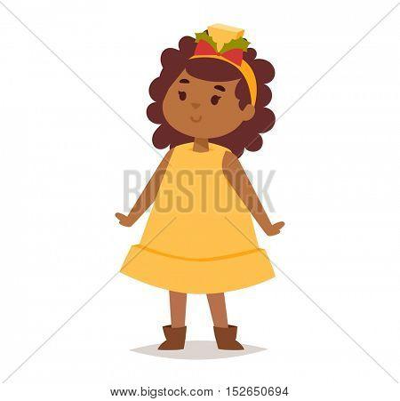 Illustration of carnival costume kid vector.