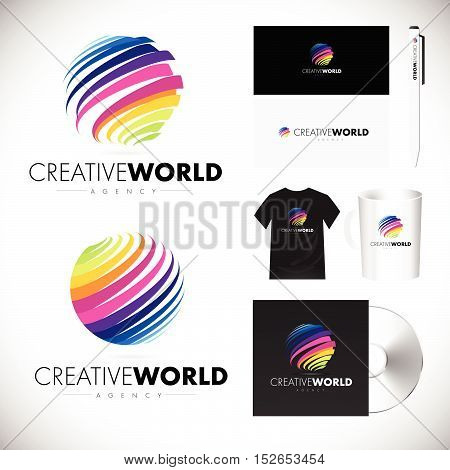 Sphere Logo Sphere Colorful Icon Sphere Design Vector Creative