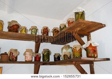 House Canned Food From Vegetables