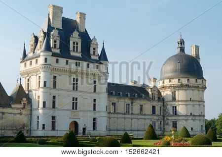 Valen�§ay Castle, Loire Valley, France. Built between the 16th and 18th centuries, mixing classical style architecture and the Renaissance.
