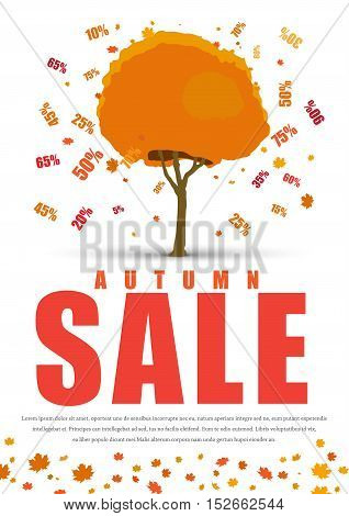 Design A Poster For Sale With Autumnal Tree With Discounts