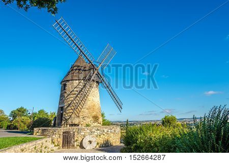 Castelnaudary - View at the Moulin Cugarel