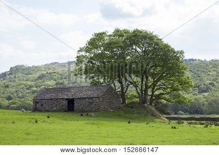 Old barn near Eskdale, The Lake District, Cumbria, England