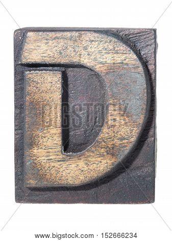 Wooden D Typeface