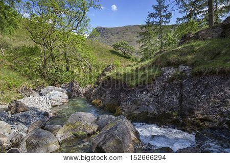 Ritson's Force, Wasdale Head, The Lake District, Cumbria, England
