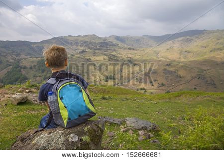 Walking up Helm Crag, The Lake District, Cumbria, England