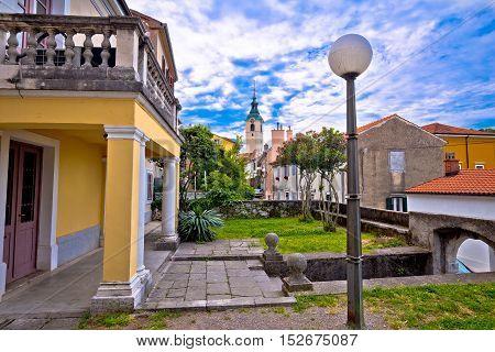 Trsat in city of Rijeka street view Kvarner bay of Croatia