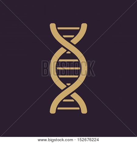 The dna icon. DNA symbol. Flat Vector illustration