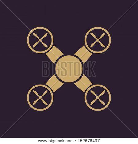 The drone icon. Drone symbol. Flat Vector illustration