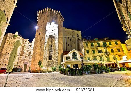 Square and tower of Split Diocletian's palace Dalmatia Croatia