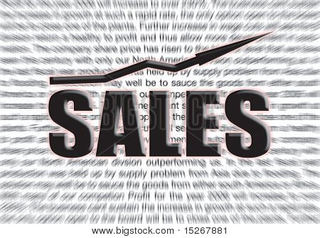 profit background for a sales