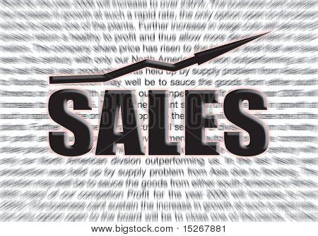 Gewinn Hintergrund für einen Verkauf