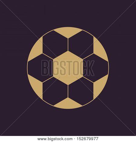 The football icon. Soccer symbol. Flat Vector illustration