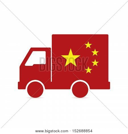 Isolated Delivery Truck With
