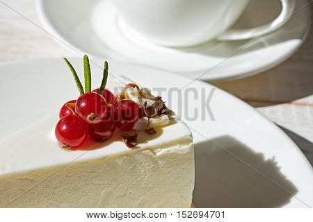White Cake With Berries