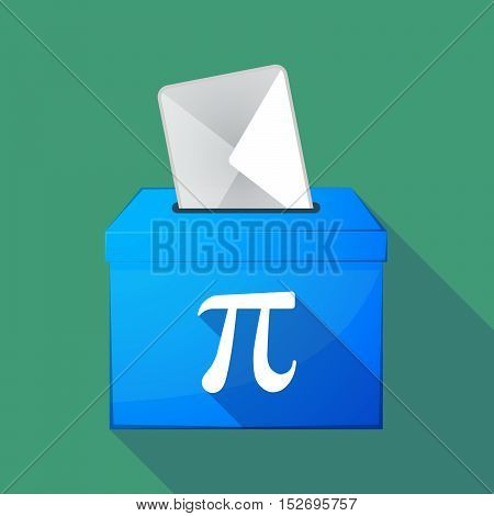 Long Shadow Ballot Box With The Number Pi Symbol