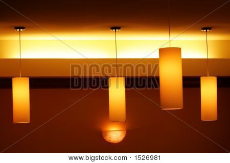 Lighted Hanging Lamps