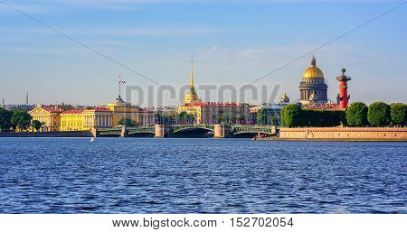 Panorama Of St Petersburg, Russia