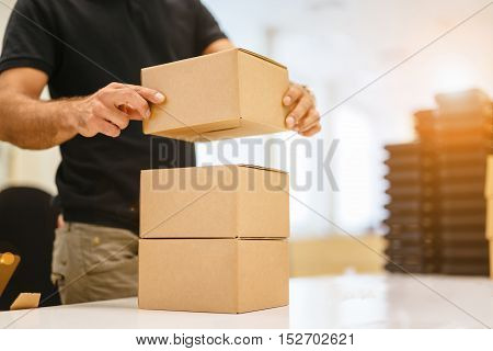 Boxing products ready for dispatching is a final step