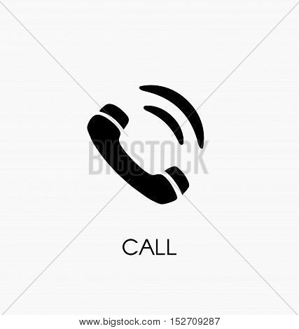 Phone Call  Icon Vector Illustration. Telephone Symbol