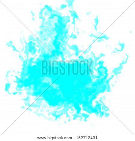 Turquoise graphic irregular spot blotch taint stain